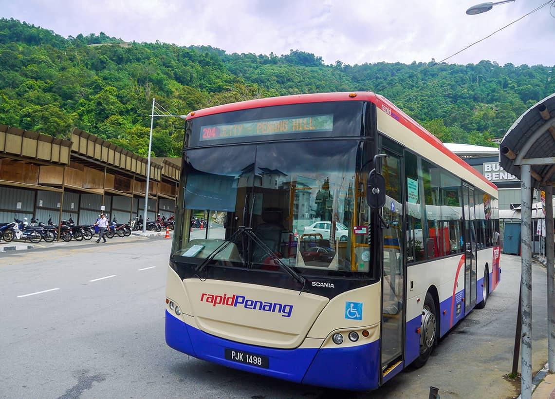 Bus 204 naar Penang Hill