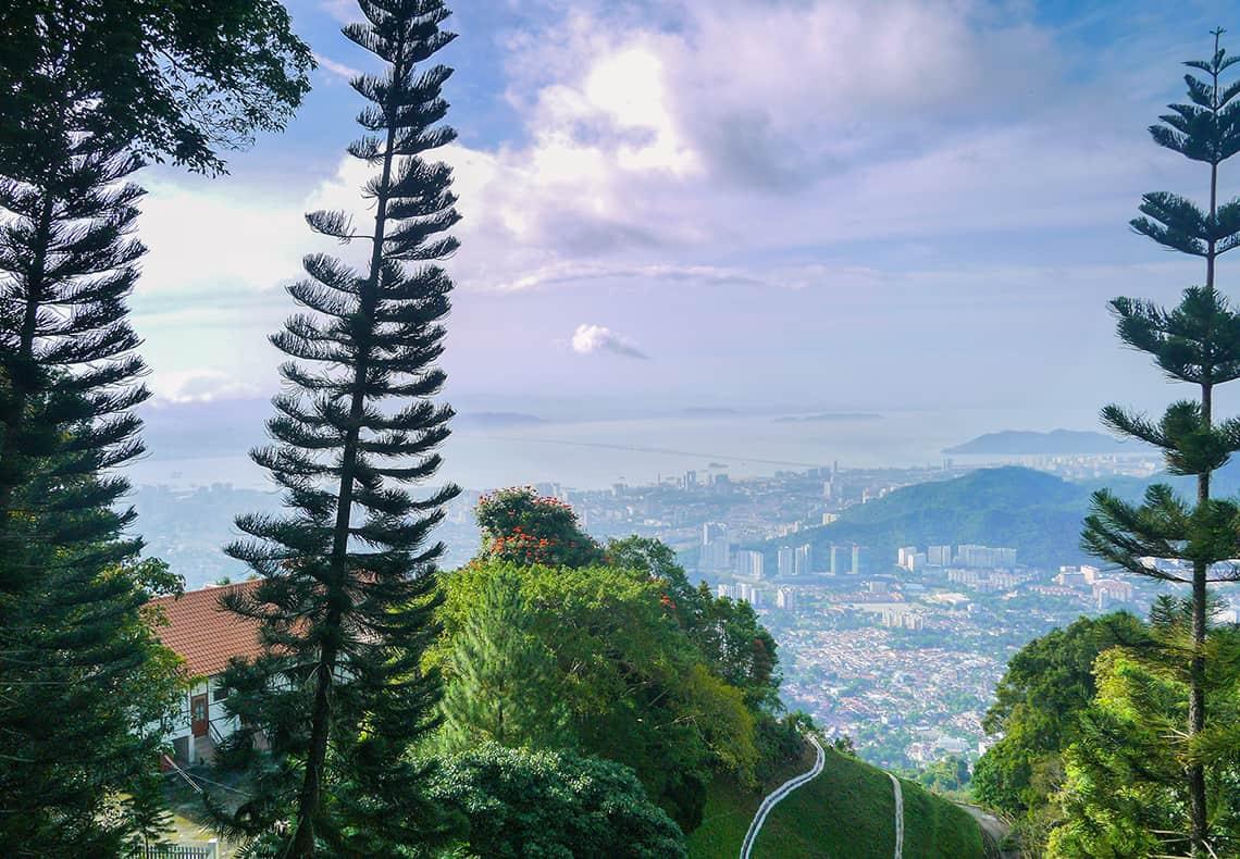 Schitterend uitzicht vanaf Penang Hill