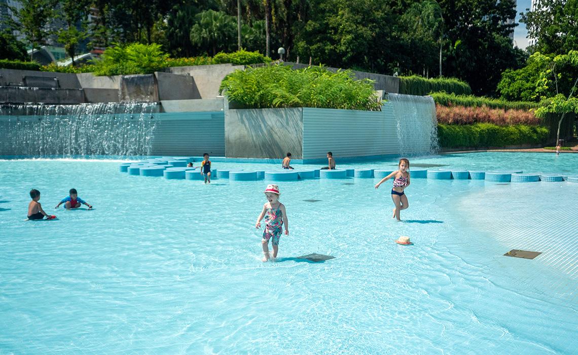 Kinderzwembad in KLCC Park