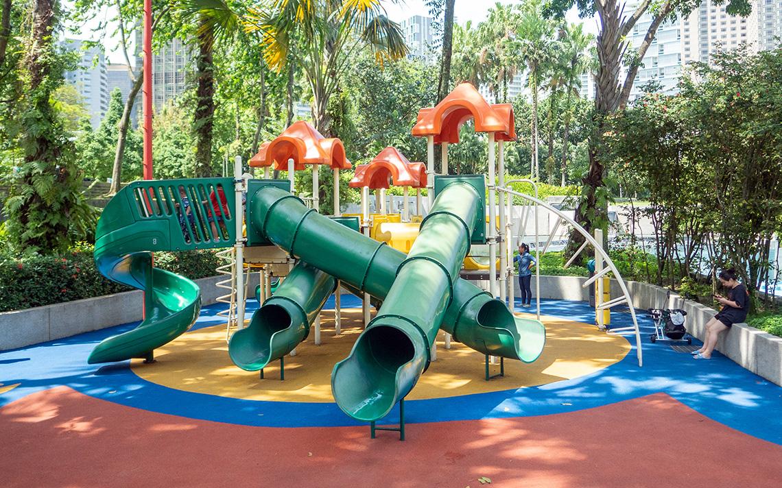 Enorme speeltuin in KLCC Park