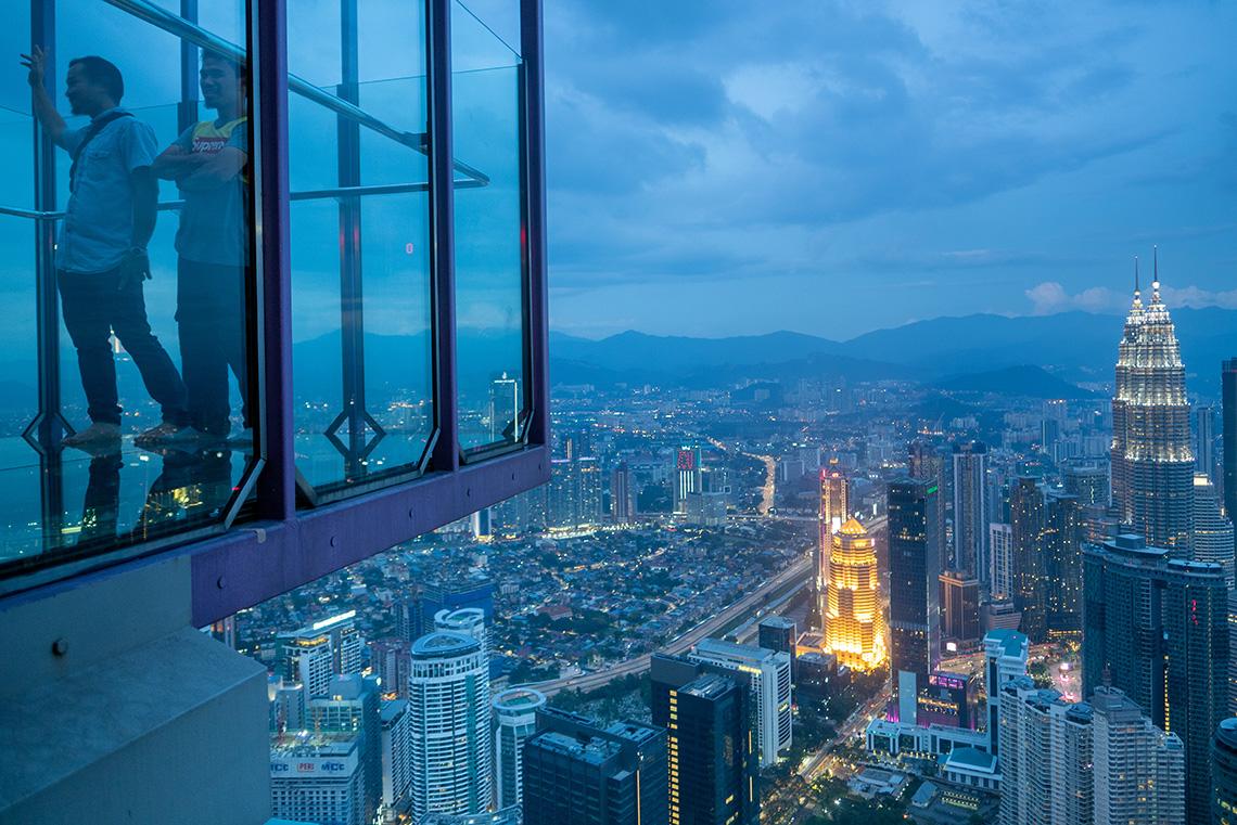 Menara KL Tower zonsondergang