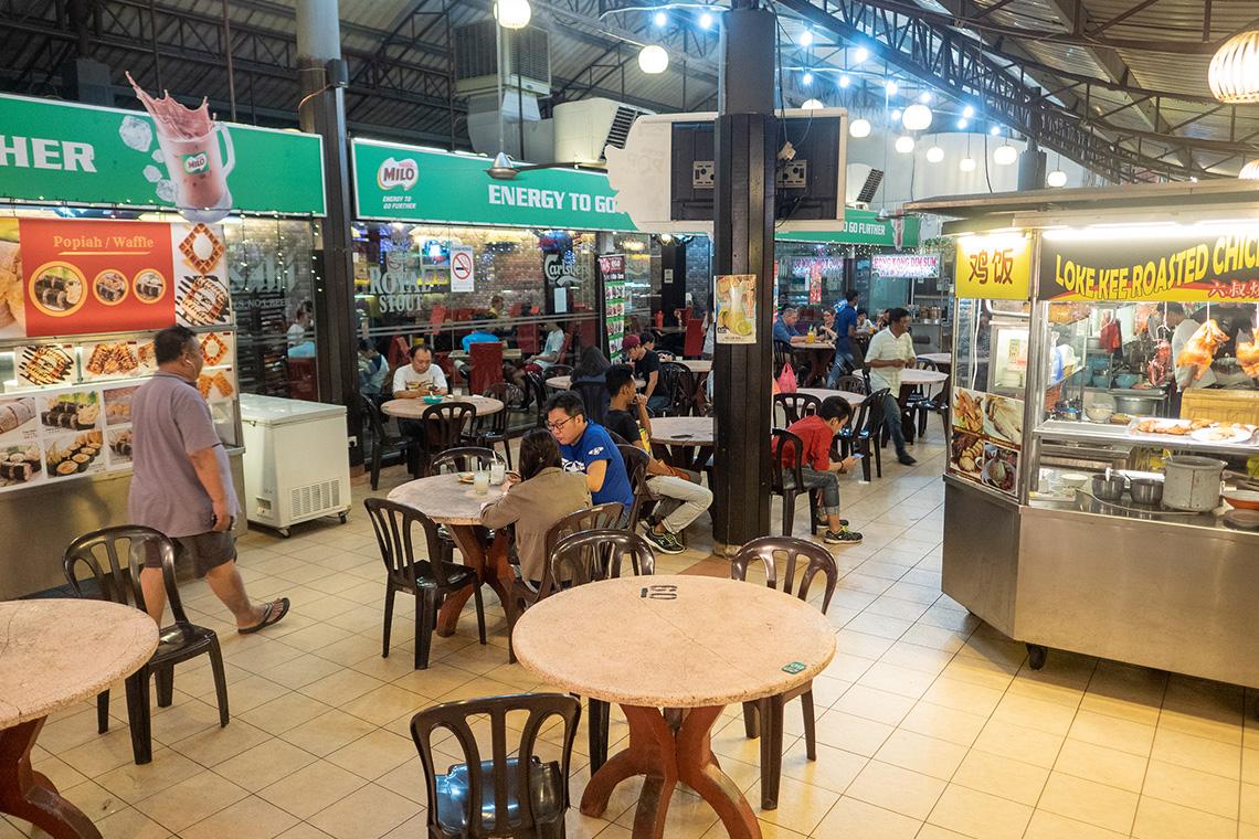 Tafeltjes bij Ming Tien Food Court