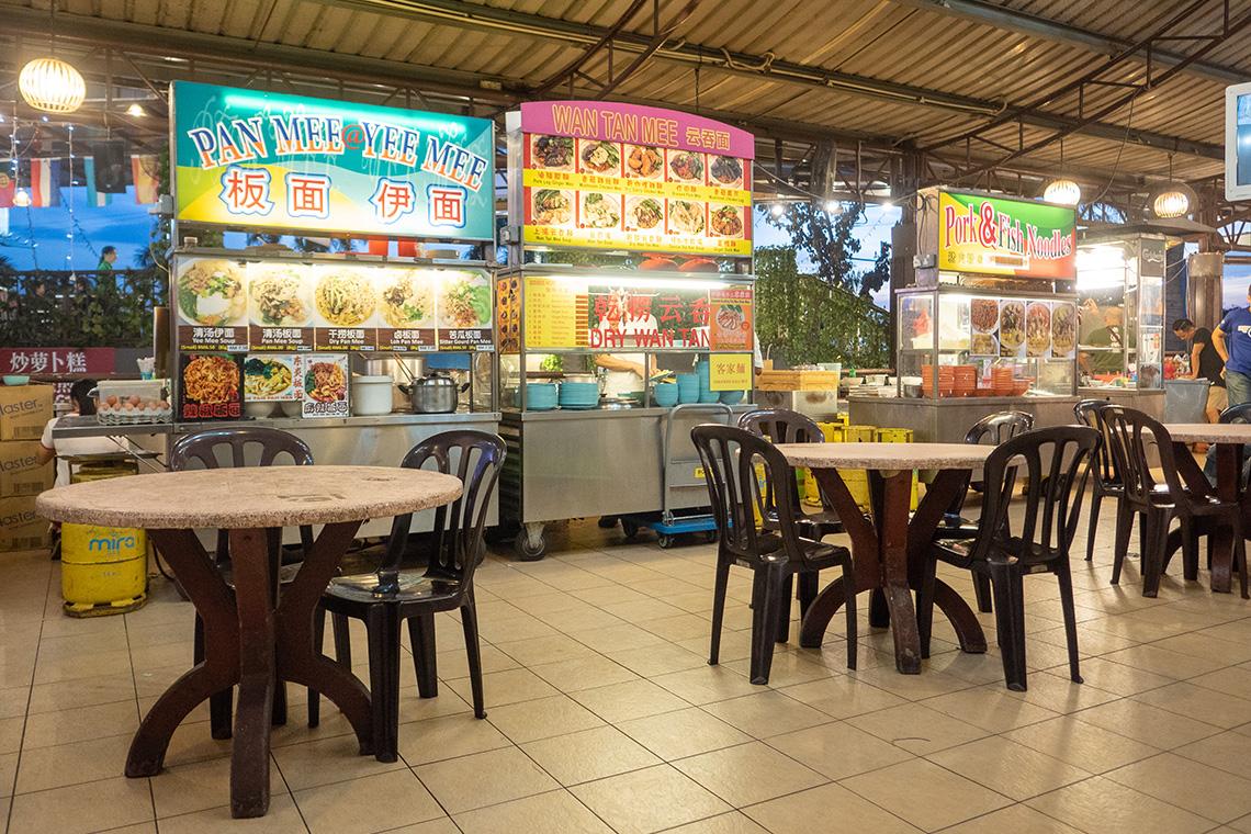Eetkraampjes bij Ming Tien Food Court
