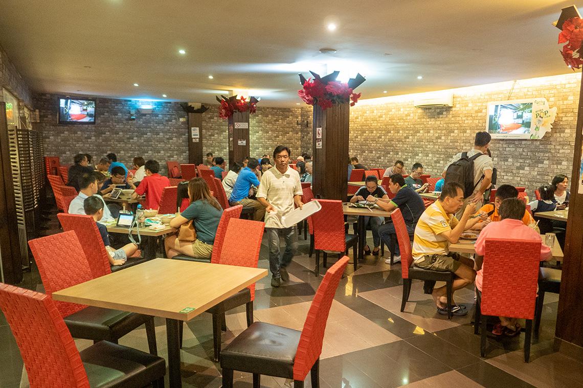 Overdekt eten bij Ming Tien
