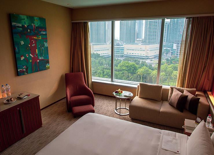 Kamer met uitzicht op Petronas Twin Towers