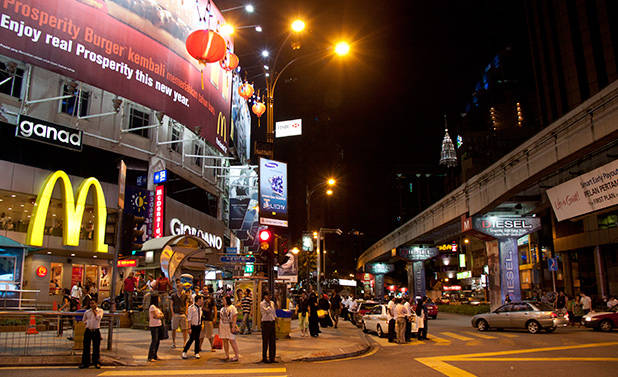 Bukit Bintang by night