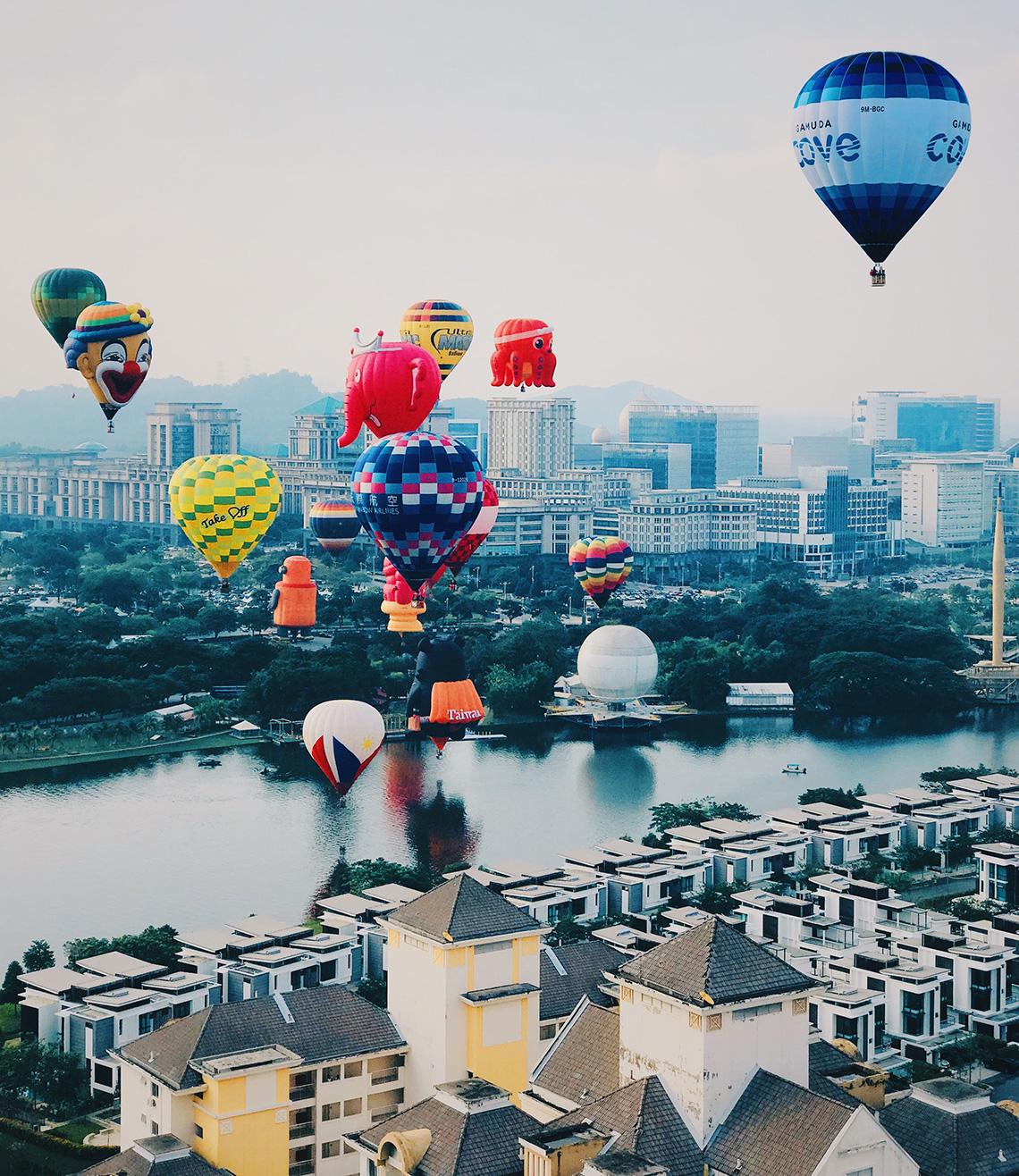 Heteluchtballon festival van Maleisië
