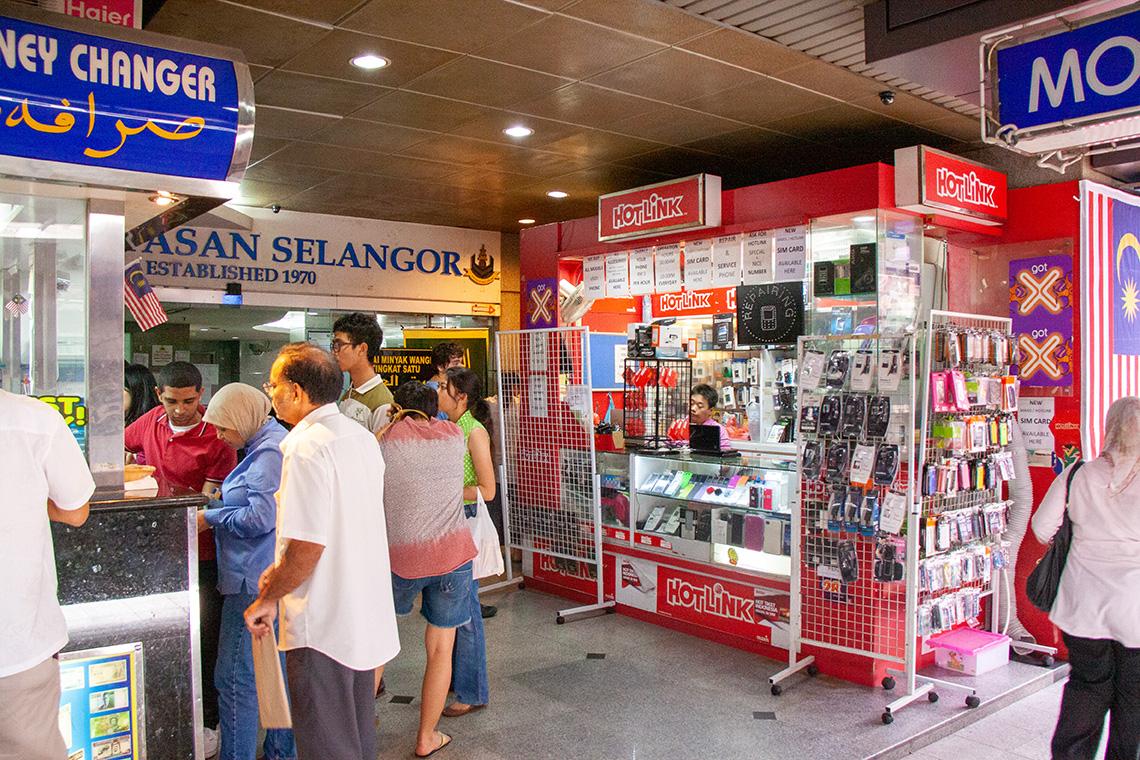 Simkaart met databundel in Maleisië